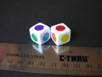 Dice : d6 16mm color circles 02