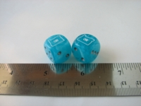 Dice : d6 16mm custom Oregon aqua