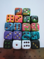 Dice : d6 16mm etsy Heather Rose fimo misc