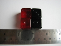 Dice : d6 16mm glass Abbot of England