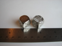 Dice : d6 16mm metal HarleyD
