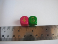 Dice : d6 16mm numerals wood