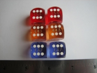 Dice : d6 16mm precision bg