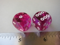 Dice : d6 16mm precision bg rings purple
