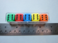 Dice : d6 16mm rainbow black