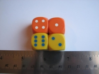 Dice : d6 16mm semiprecision bg
