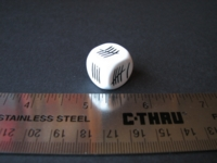 Dice : d6 16mm tally marks