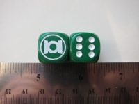 Dice : d6 16mm thingsandgames Green Lantern
