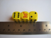 Dice : d6 16mm three bears game