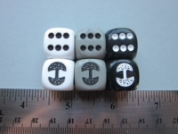 Dice : d6 16mm tree of life