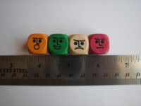 Dice : d6 16mm wood faces