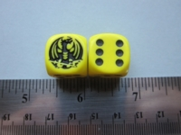 Dice : d6 16mm yellow dragon