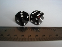 Dice : d6 17mm cherry amber