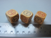 Dice : d6 18mm heads tails circles