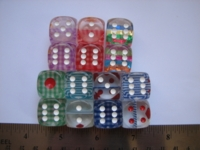 Dice : d6 18mm internal foil