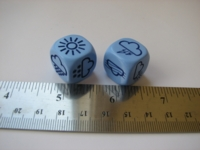 Dice : d6 18mm weather blue