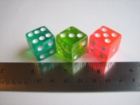 Dice : d6 19mm Hoyle neon