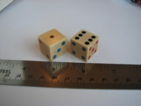 Dice : d6 19mm colored pips