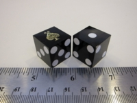 Dice : d6 19mm precision black ace