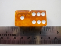 Dice : d6 19mm translucent orange