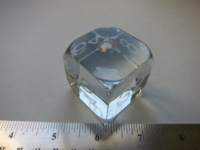 Dice : d6 1p5inch Baccarat doubling cube crystal