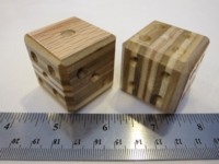 Dice : d6 1p5inch etsy oak layered