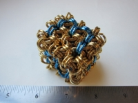Dice : d6 1p75inch etsy brass blue
