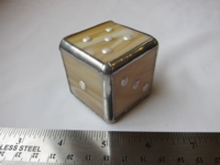 Dice : d6 1p75inch stained glass gold
