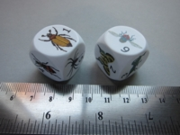 Dice : d6 22mm CC insects