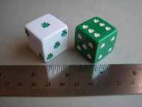 Dice : d6 25mm shamrock