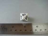 Dice : d8 CHX weather white